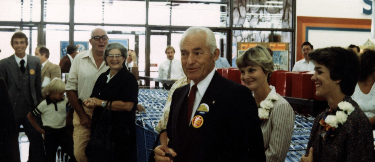 Sam Walton at store