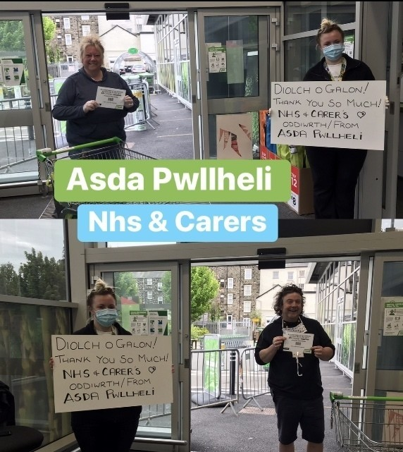NHS thanks | Asda Pwllheli