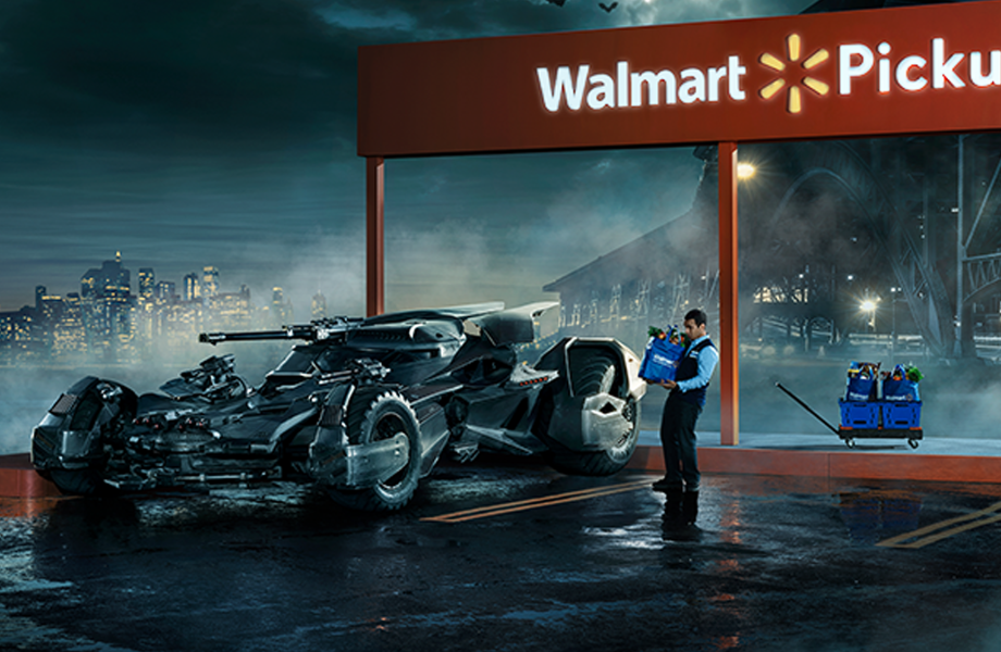 Batmobile at Walmart's online grocery pickup