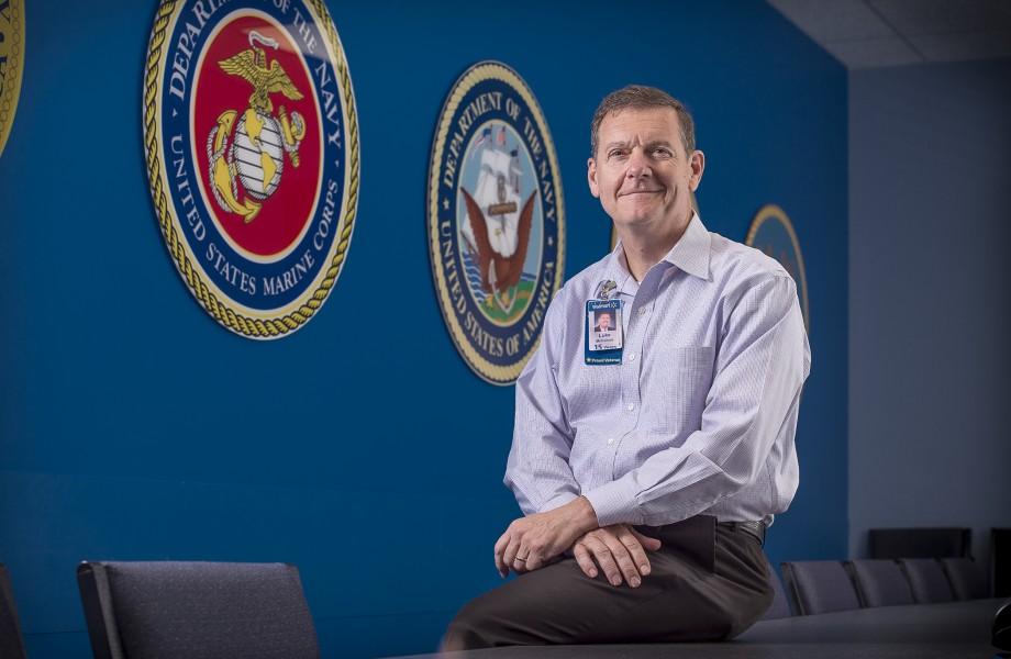 Navy Reserve Officer Luke McCollum portrait shot