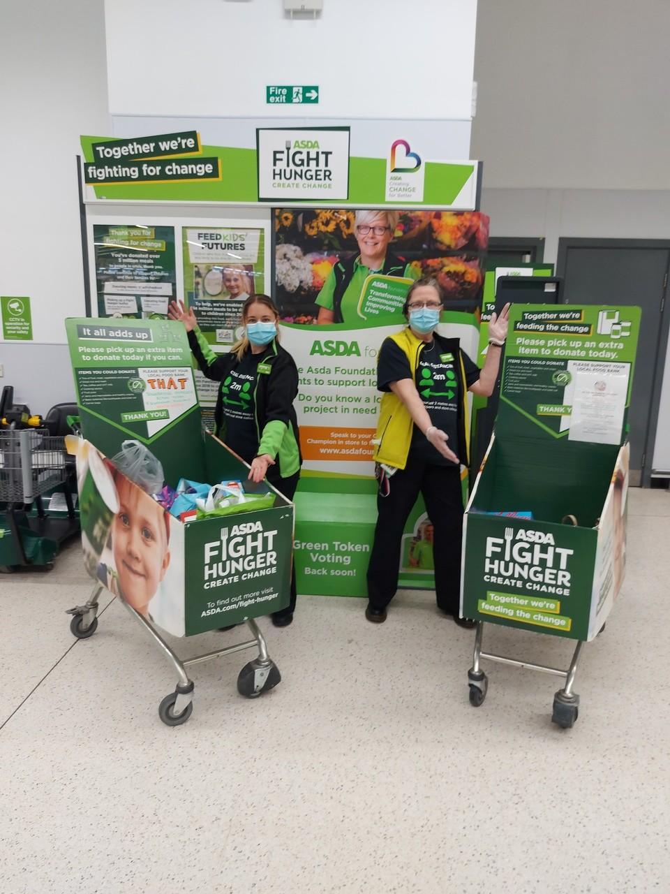 Generosity weekend for foodbank | Asda Newton Abbot