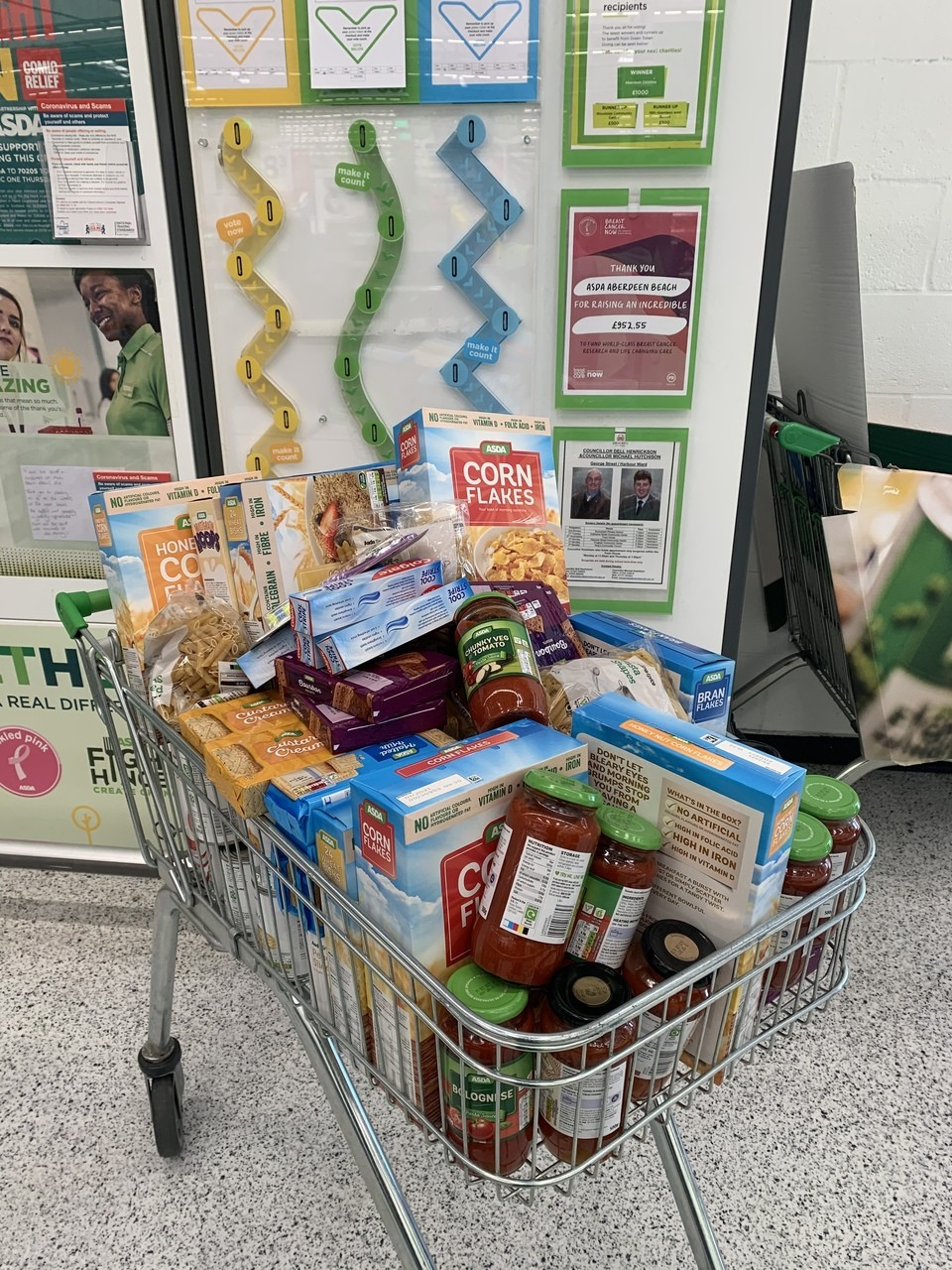 Foodbank donation | Asda Aberdeen Beach