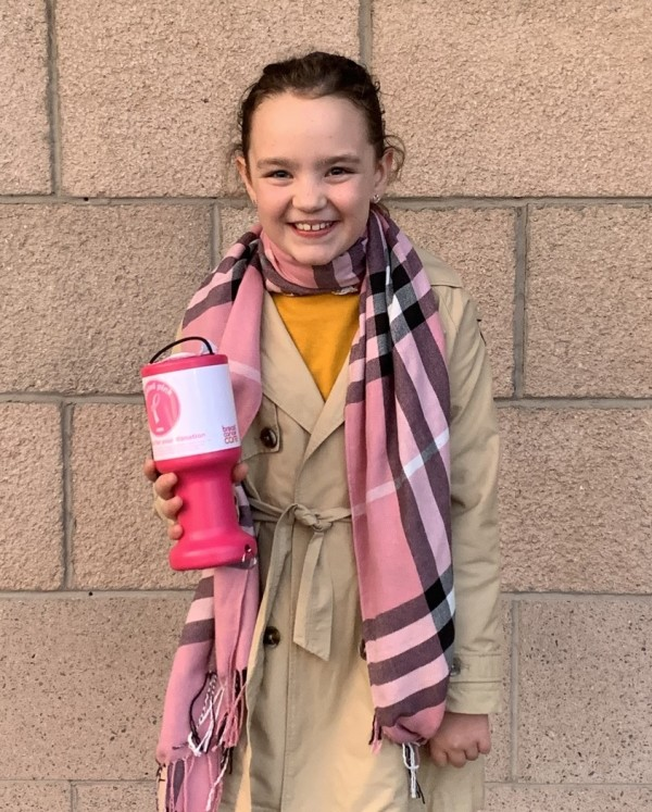 Ailie MacIntosh supports charity at Asda Aberdeen Beach