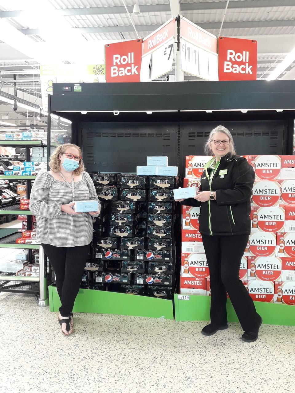 Face masks donation | Asda Gillingham Pier