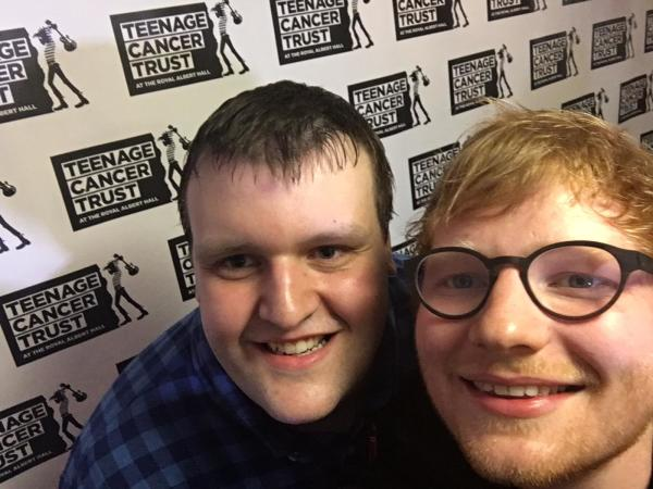 Sheldon Donovan from Asda Worcester needs a stem cell donor. He's here with Ed Sheeran