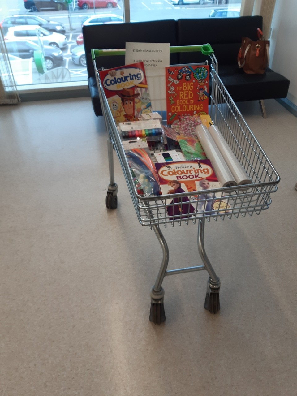 St john vianney school picking a donation up.  | Asda Trafford Park