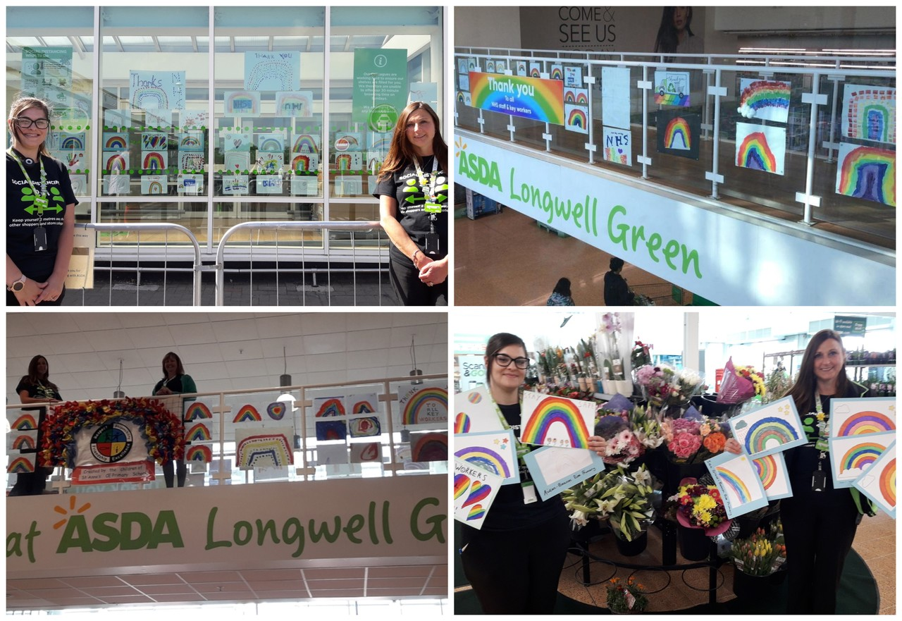 Thank you to the children at our local schools for the beautiful Rainbow pictures  | Asda Longwell Green