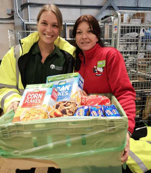 Asda Ellesmere Port donate good to the Port Grocery