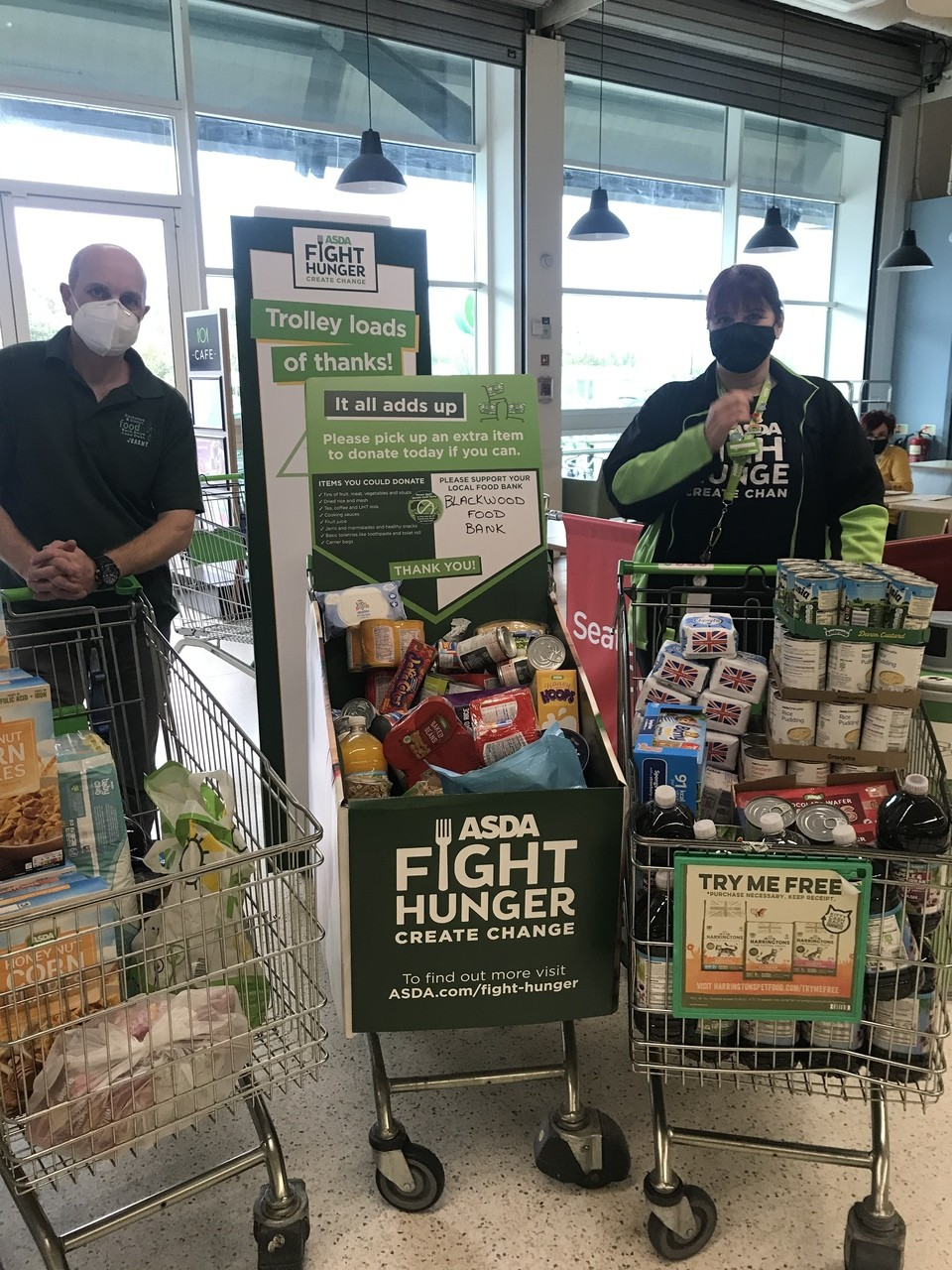 Donation to Blackwood and District FoodBank | Asda Blackwood
