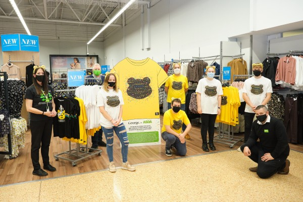 BBC Children in Need t-shirt launch at Asda Norwich