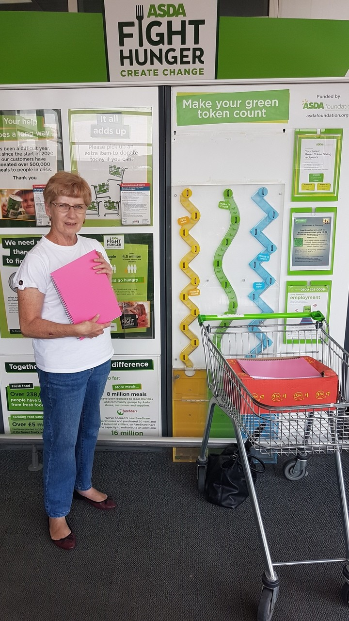 Donation of craft items to The Attic Project in Bury | Asda Pilsworth