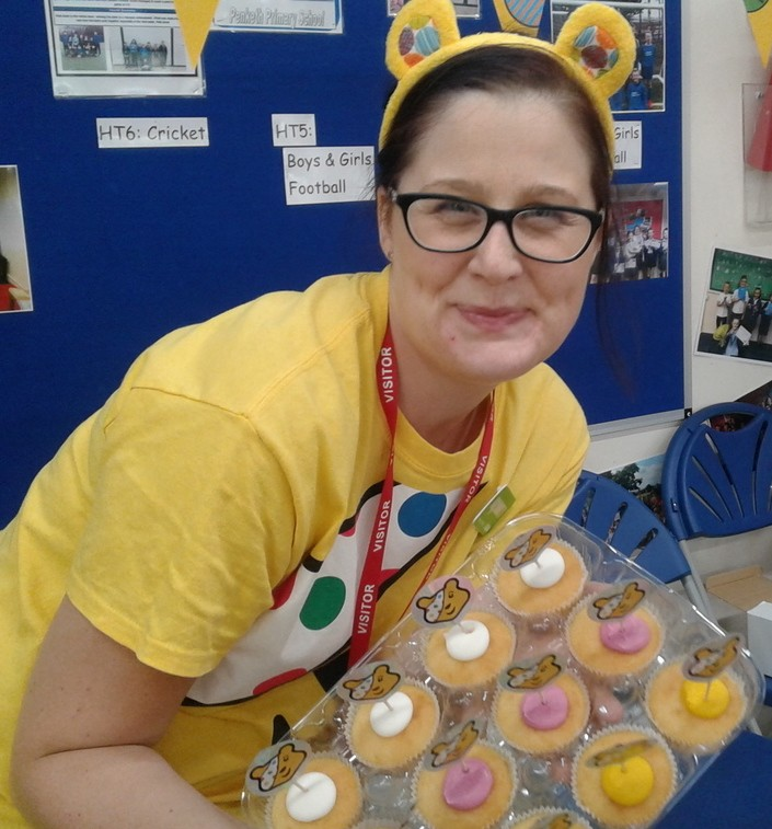 Asda Warrington community champion Liz Cotterill at the BBC Children in Need Party