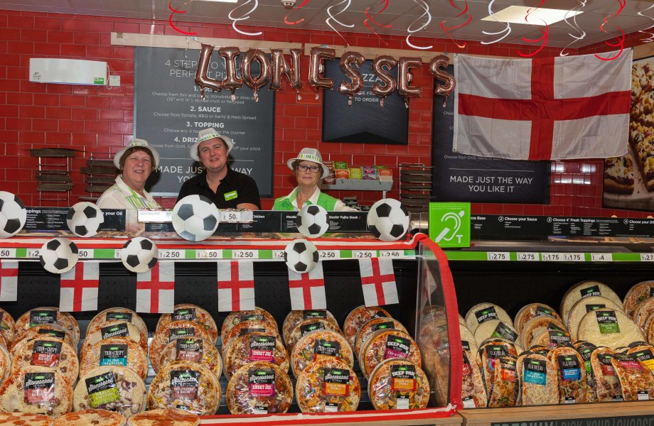 Colleagues at Asda Eastlands are getting behind the England team ahead of the Women's World Cup