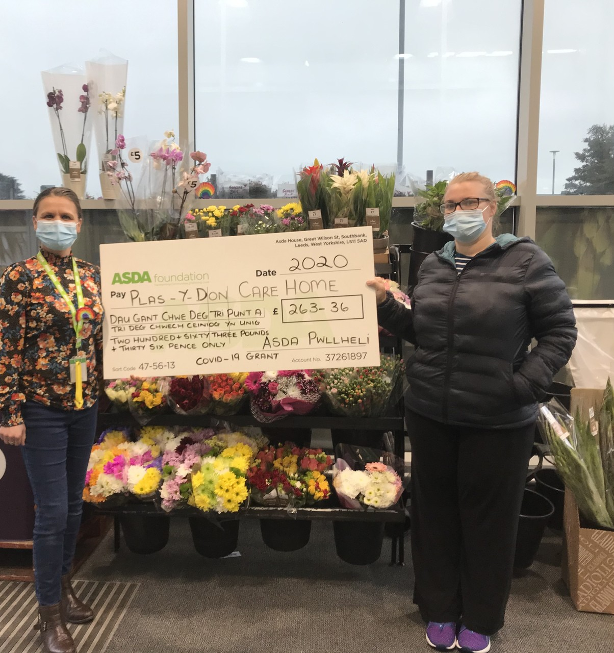Care home donation | Asda Pwllheli