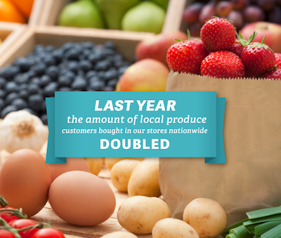 Produce Sales Doubled