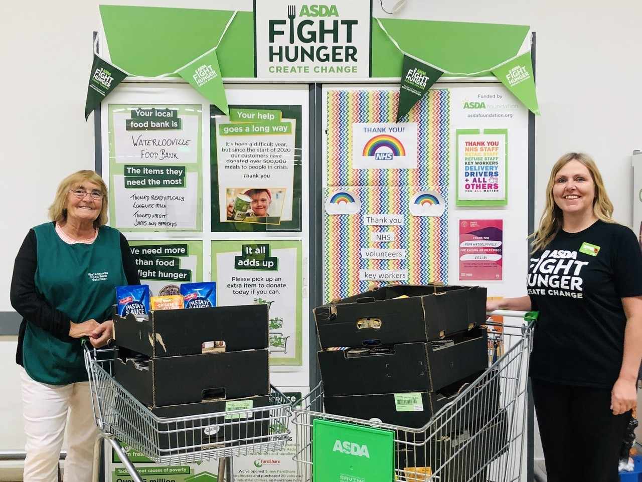 Waterlooville Food Bank donation | Asda Waterlooville
