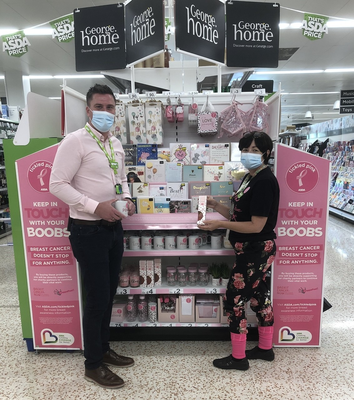 Neil wears pink for Tickled Pink | Asda Cookstown