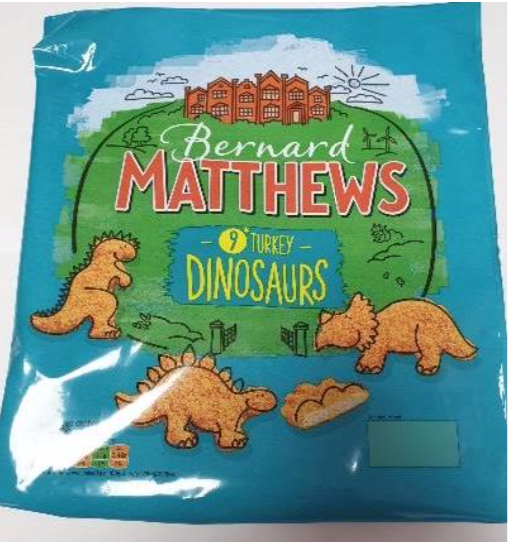 Bernard Matthews Turkey Dinosaurs product recall