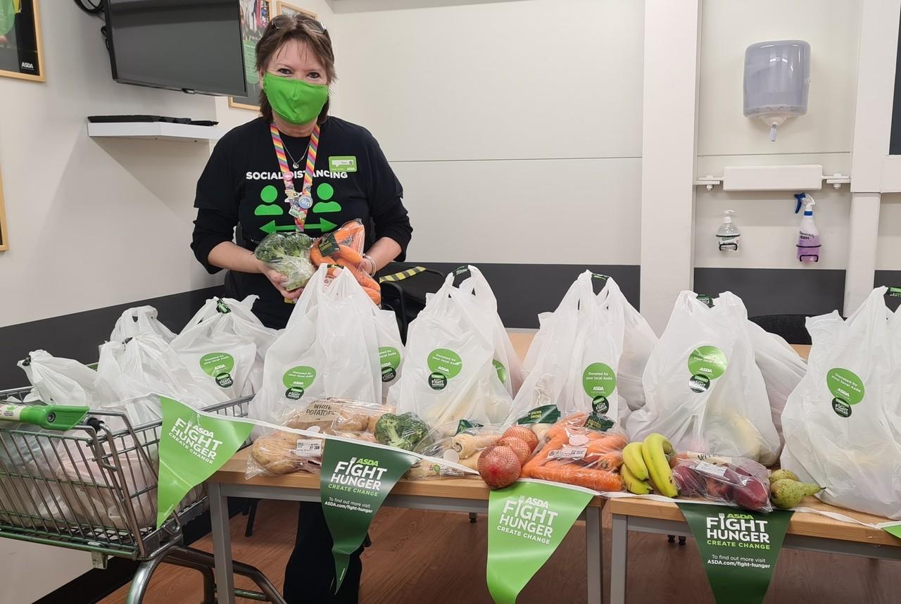 Fight Hunger Create Change donation | Asda Newport Isle of Wight