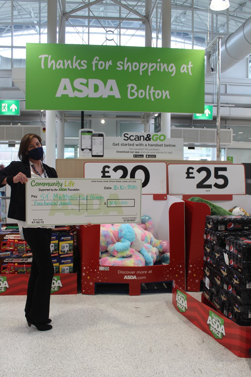 Healthy Holiday grant to St Matthew's School | Asda Burnden Park