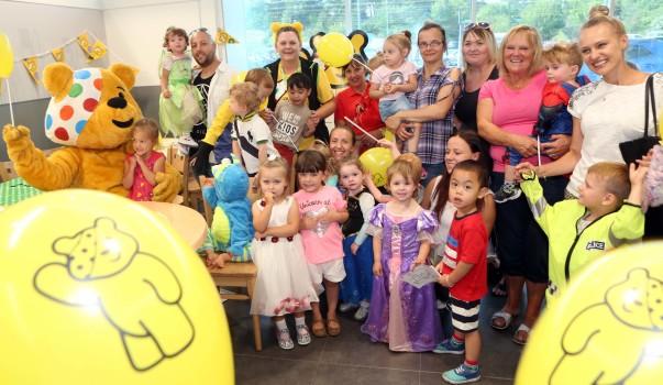 Fun at Asda Wrexham for BBC Children in Need