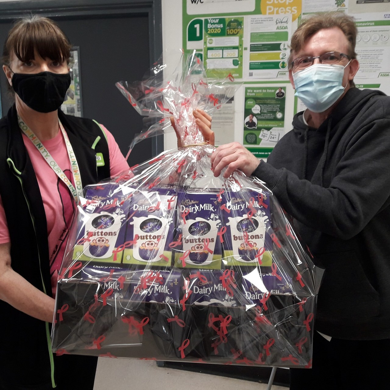 Donation of an Easter Hamper to Albert House Care Home | Asda Colne