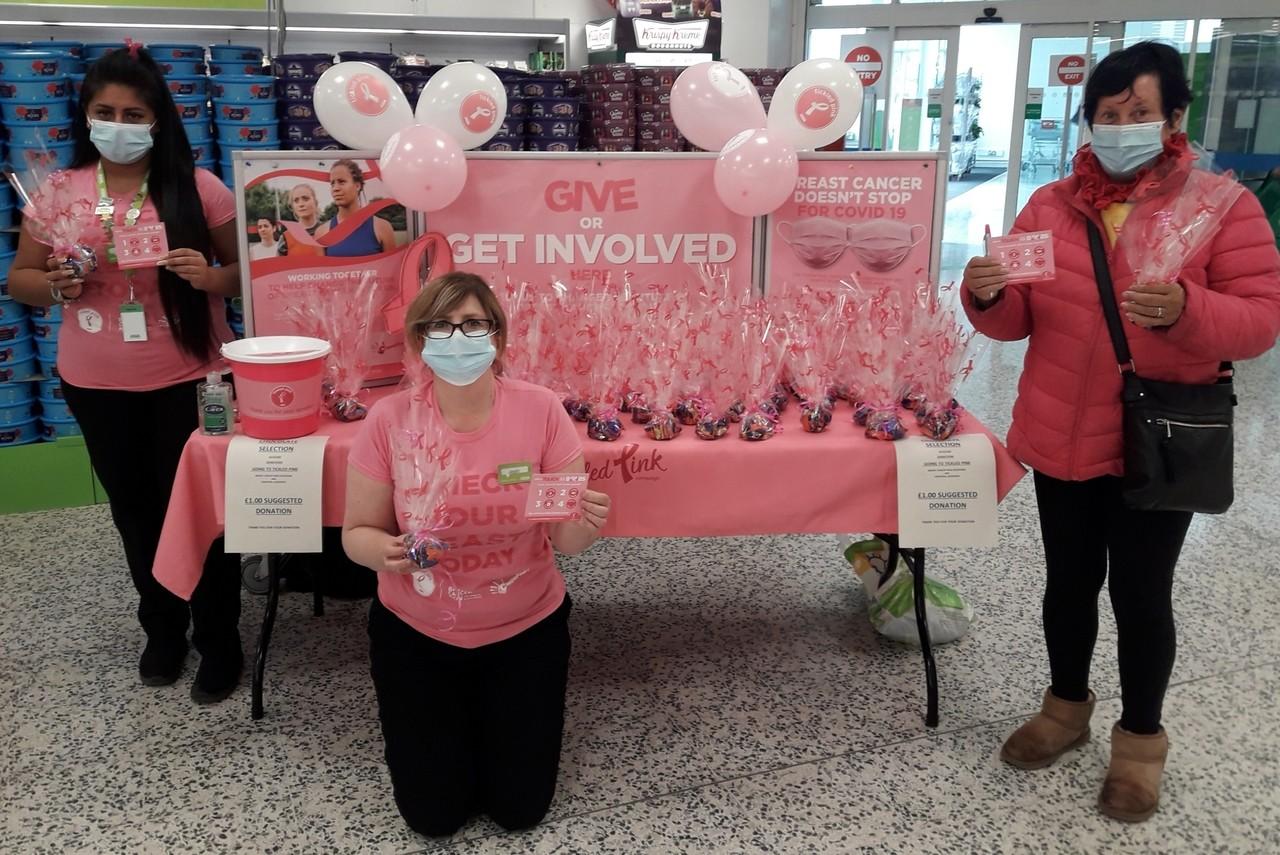 Tickled Pink fundraiser | Asda Kirkcaldy
