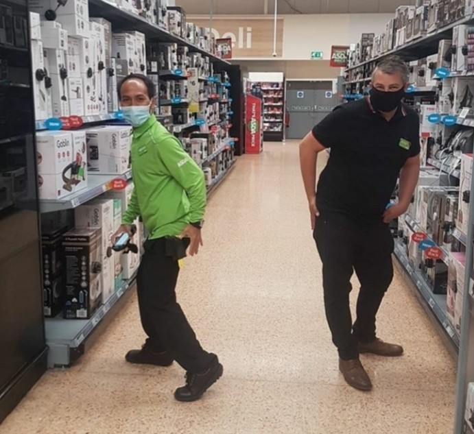 The Asda Tap! We even got some shoppers to join in 🤗 | Asda Norwich