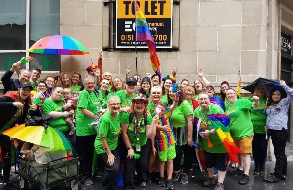 Asda colleagues support Pride in Liverpool