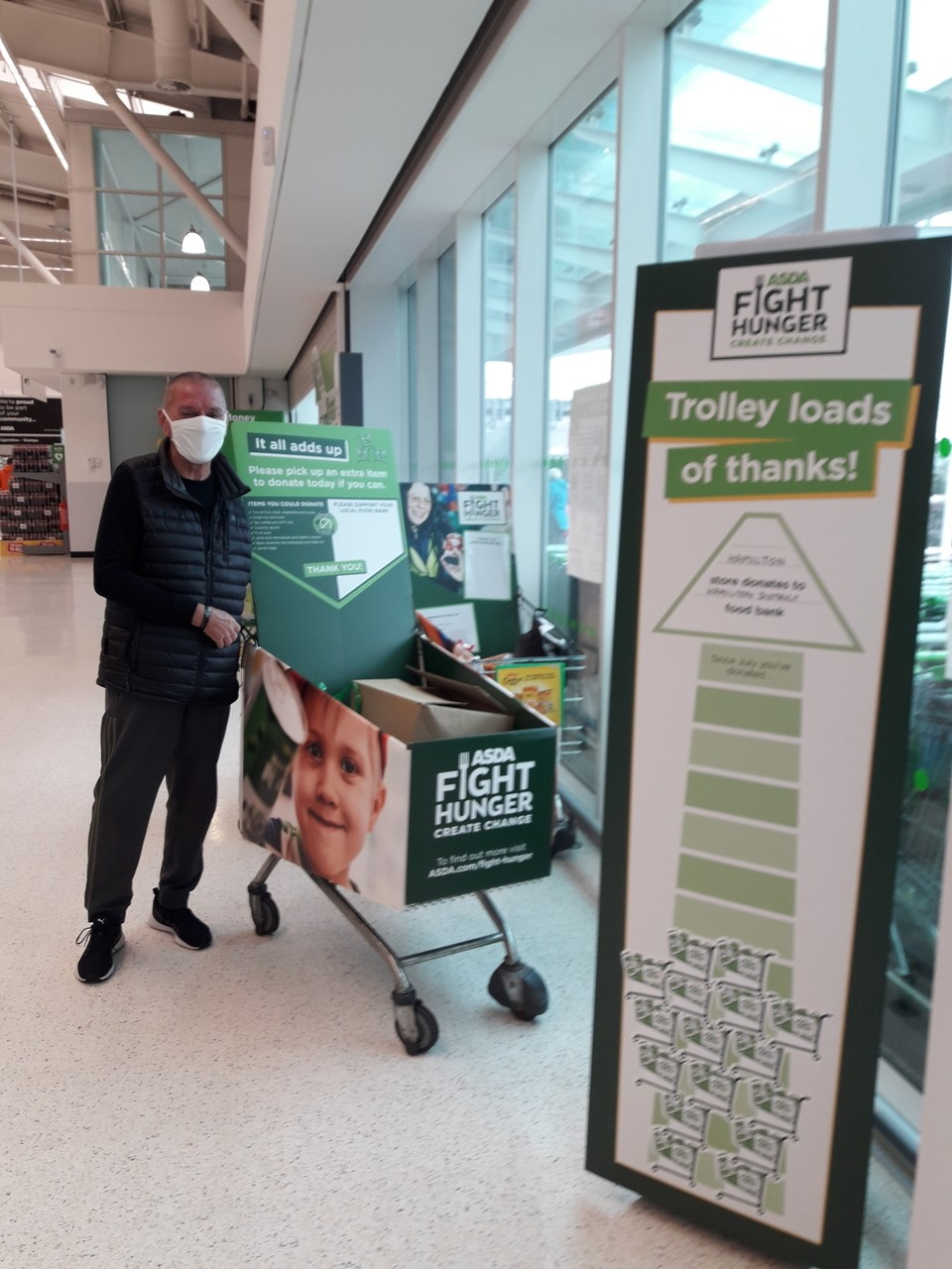 Donations for Hamilton District Foodbank | Asda Hamilton