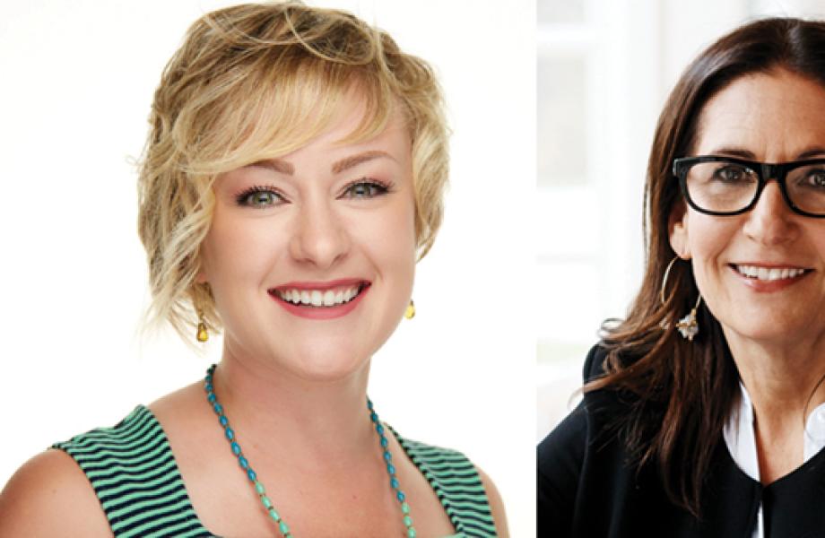 Walmart cosmetics buyer Melanie Deschaine and makeup artist Bobbi Brown