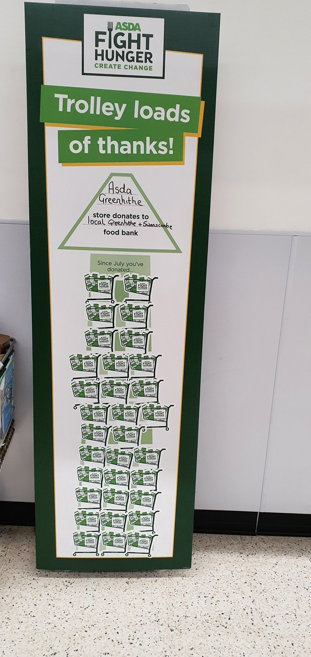 Food bank donations from Asda Greenhithe | Asda Greenhithe
