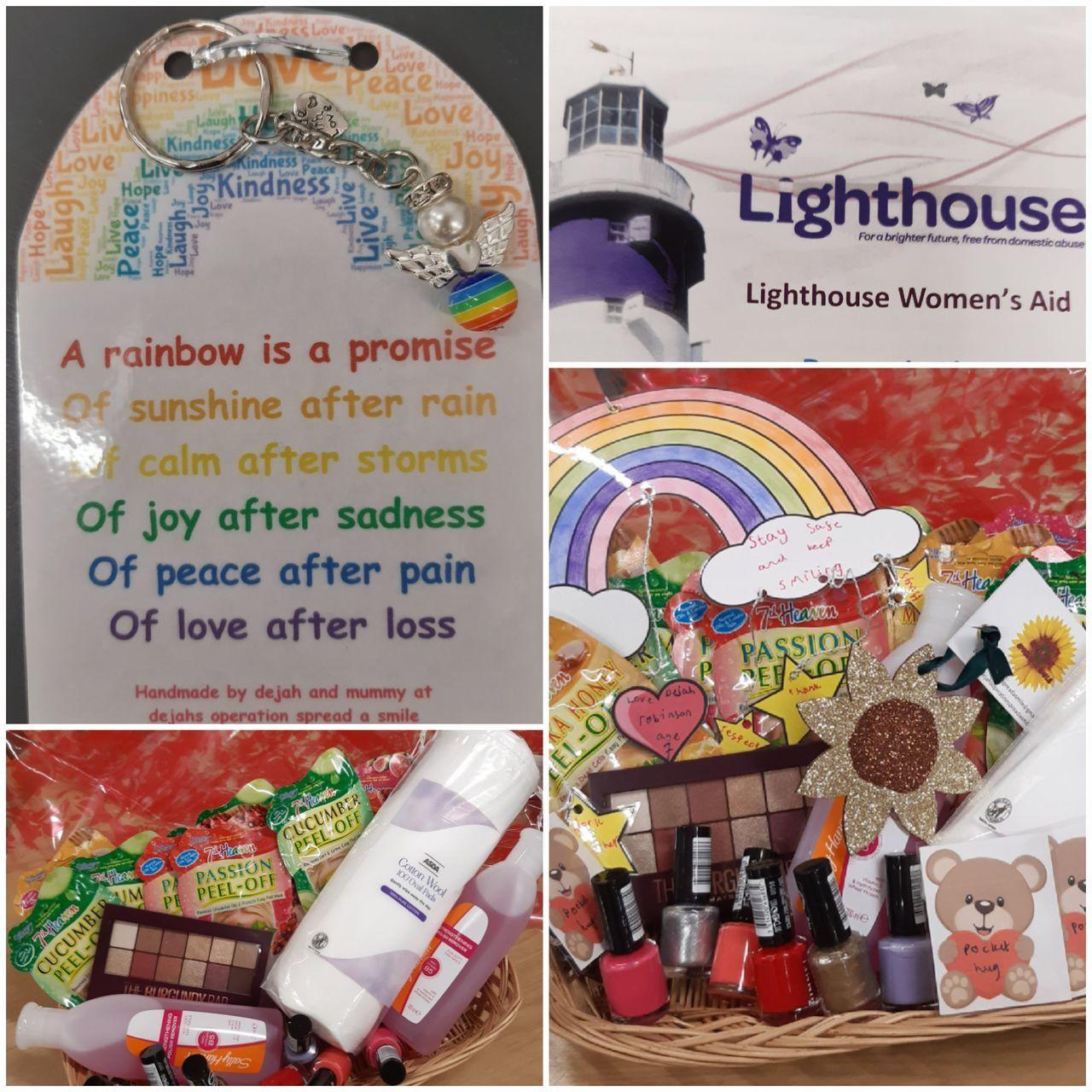 Lighthouse Women's Aid pamper evening donation   Asda Ipswich Stoke Park