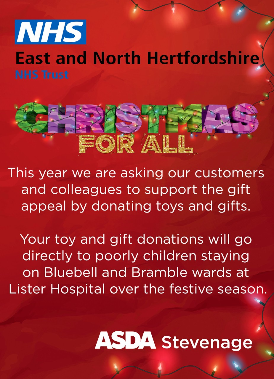 Gift appeal  | Asda Stevenage