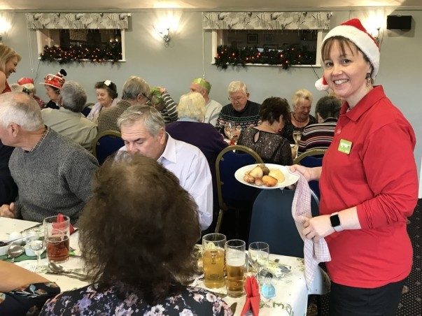 Asda Falmouth community champion Lisa at the Christmas party