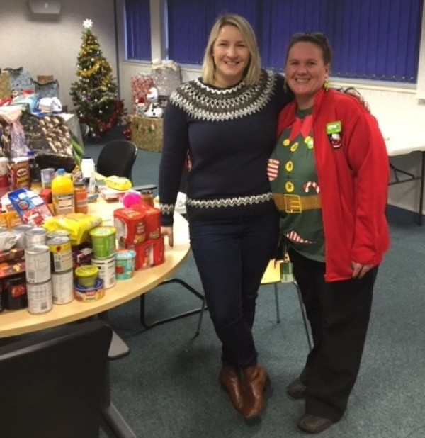 Asda Glenrothes community champion Avril at Glenrothes foodbank