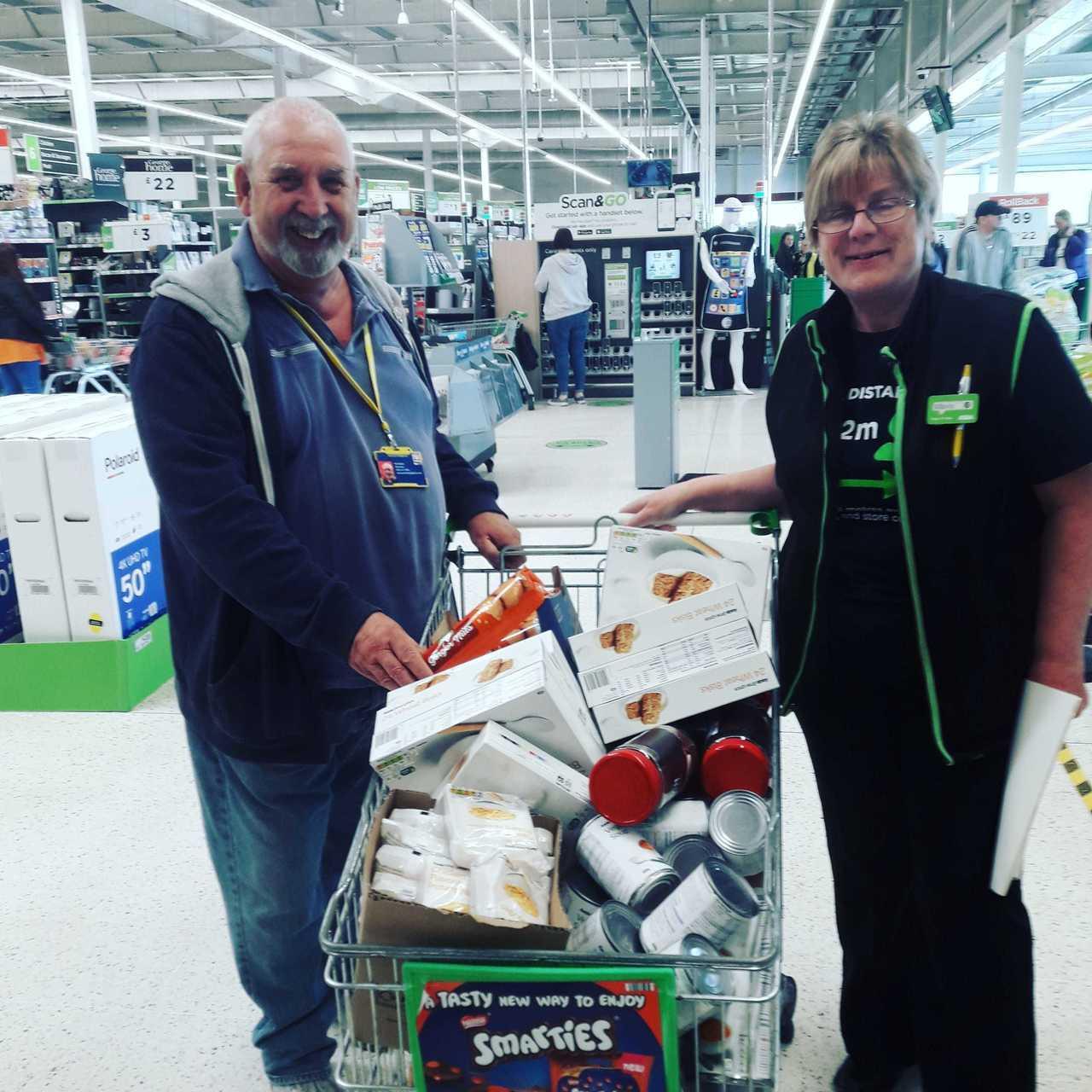 Foodbank donation | Asda South Shields