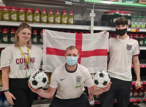 Asda Newport Isle of Wight support England at Euro 2020