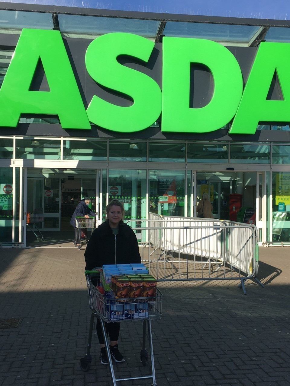 Emily collected Easter Eggs for the children Abernecessities provide support for. | Asda Dyce