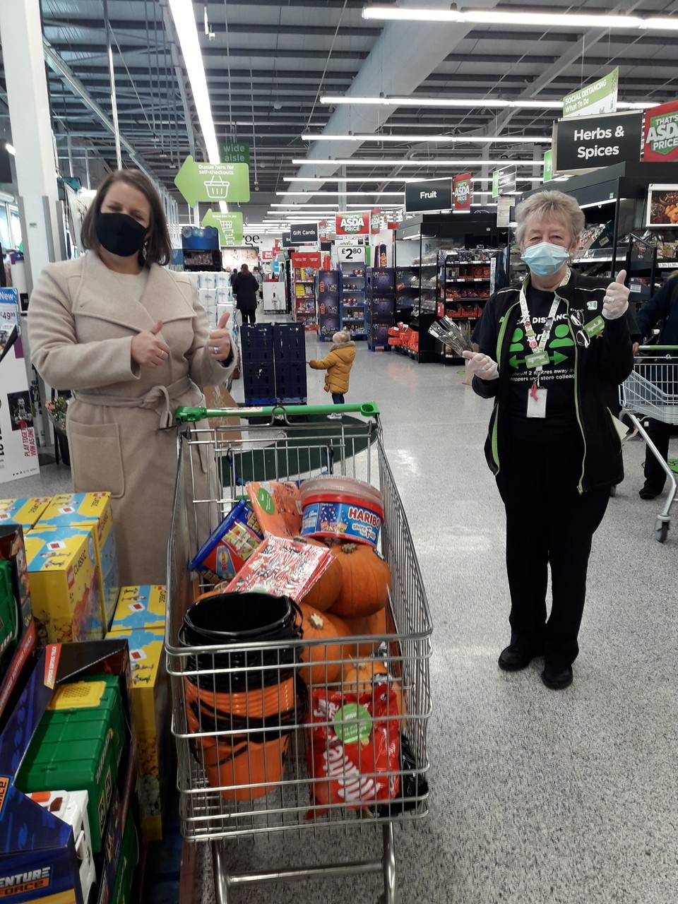 Halloween donation for Independent Options charity | Asda Reddish