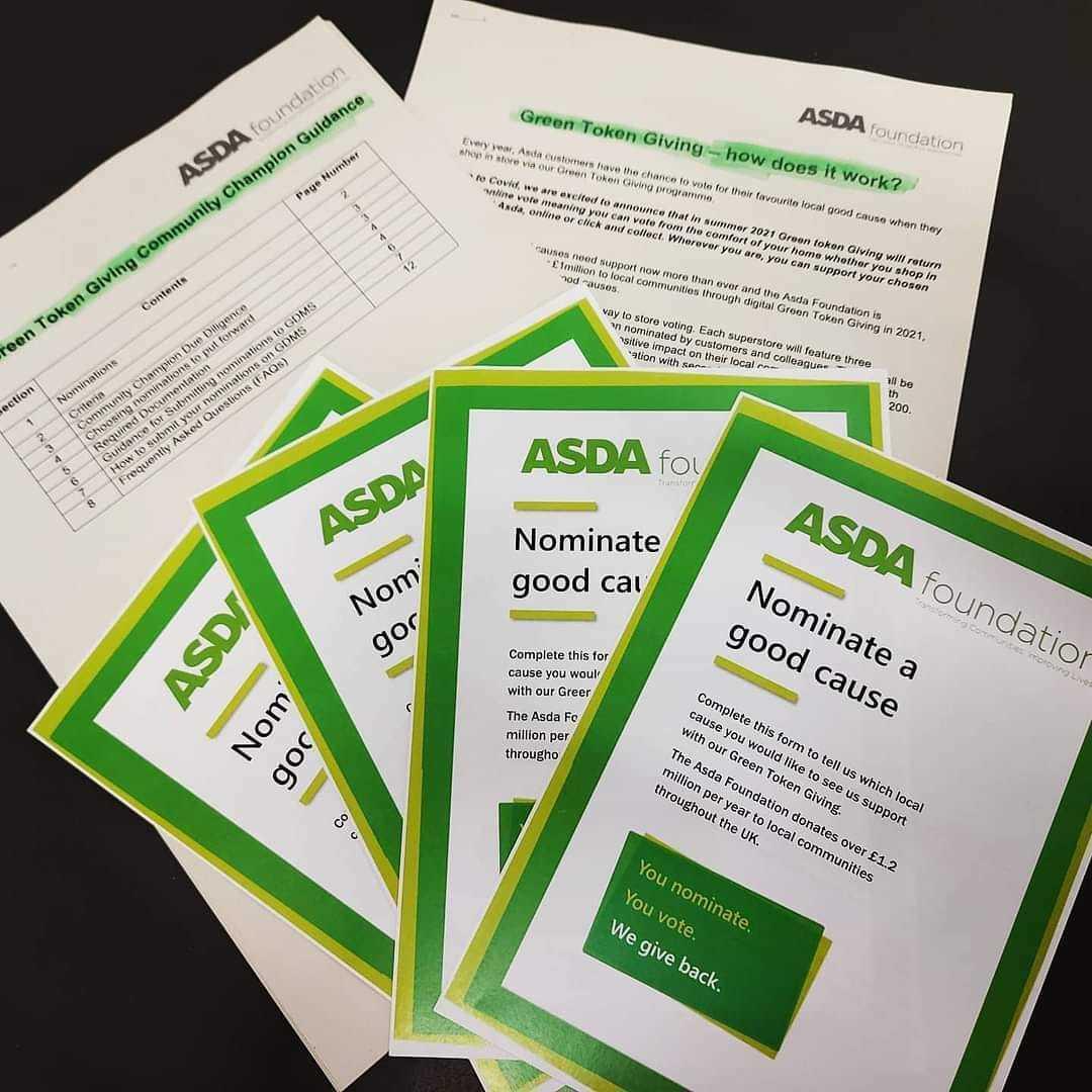 Green token giving | Asda Elgin