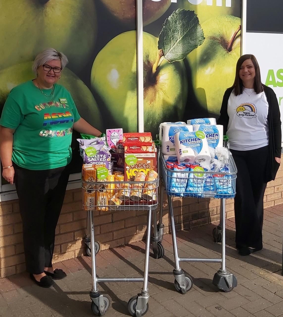 Donation time | Asda Donnington Wood