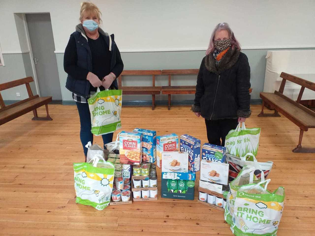 Topping up donations for St Andrew's Church Haughton Le Skerne Food Bank | Asda Darlington