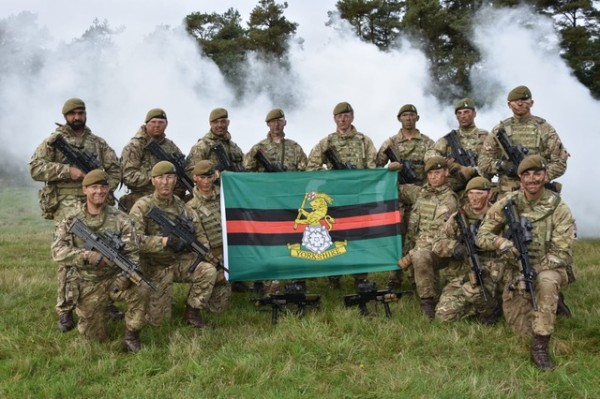 James Marrero-Allen from Asda serves with the 4th Battalion of the Yorkshire Regiment