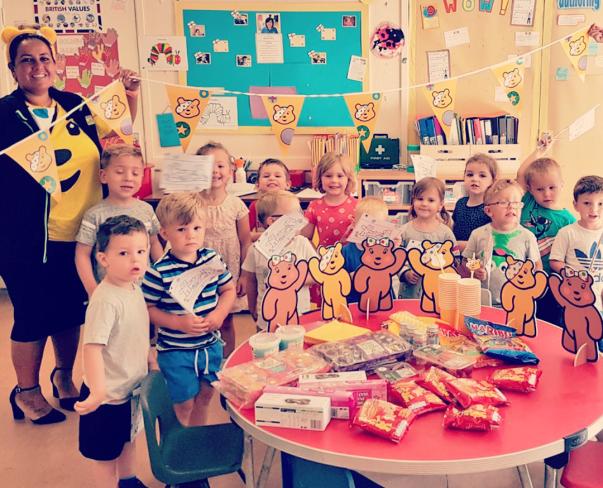 BBC Children in Need party at Asda Cheltenham