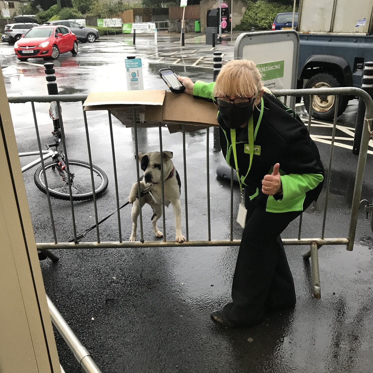 Torrential rain ...but an Asda flower box saves the day for Elsie | Asda Pwllheli