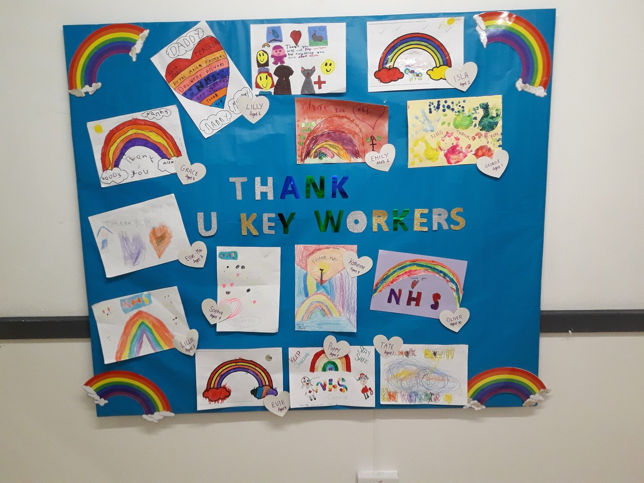 Beautiful pictures done by the children  | Asda Taunton