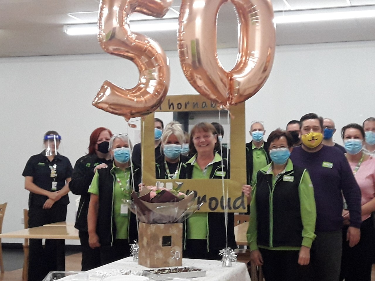 Asda Thornaby colleague Linda celebrates 50 years' service | Asda Thornaby