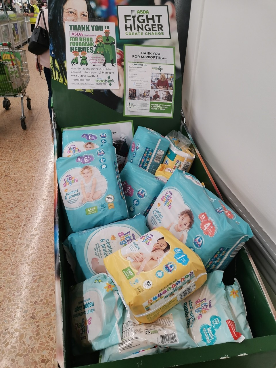 Food bank donation | Asda Shoebury