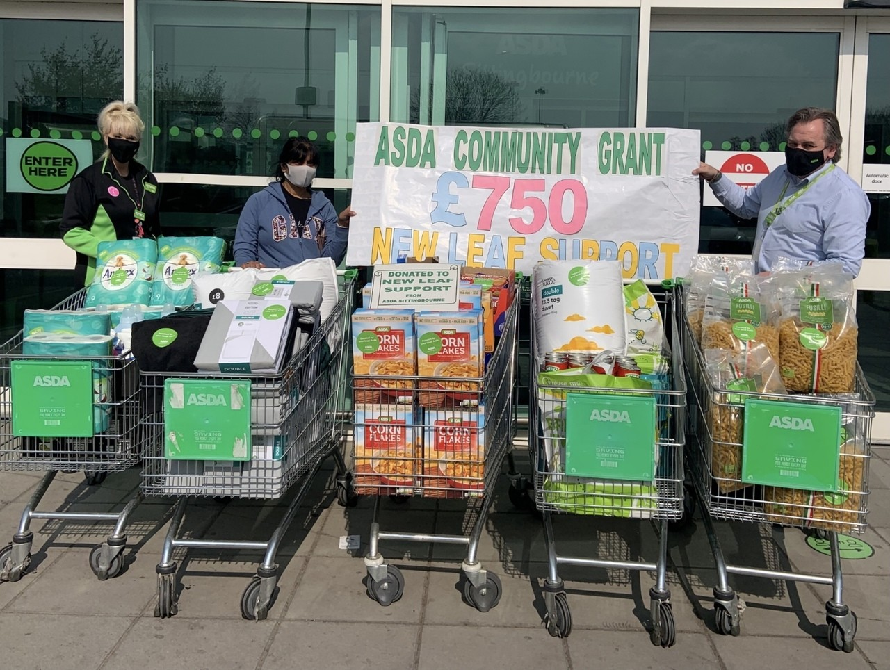 Grant for New Leaf Support   Asda Sittingbourne